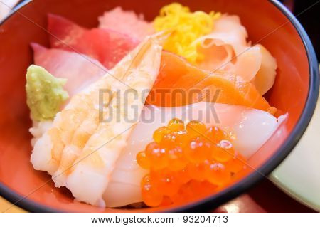Mixed Sushi Rice Don