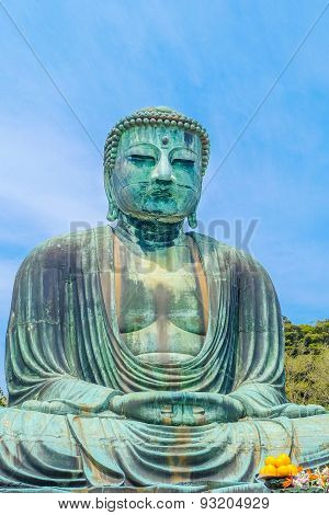 Image Of Great Buddha Bronze Statue In Kamakura, Kotokuin Temple,japan.