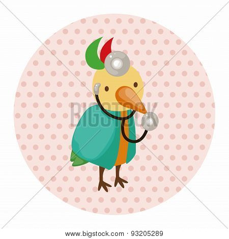 Animal Bird Doctor Cartoon Theme Elements