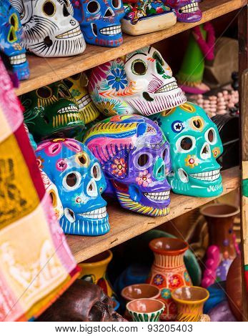 Colorful Skulls Souvenirs
