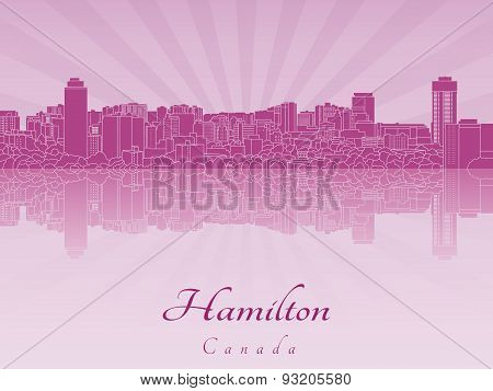 Hamilton Skyline In Purple Radiant Orchid