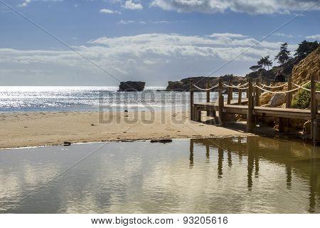 Western Algarve Beach Scenario Of St.eulalia