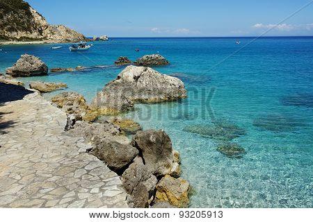 Blue Waters of the Agios Nikitas Beach