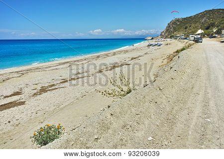 Panoramic view of Katisma Beach, Lefkada