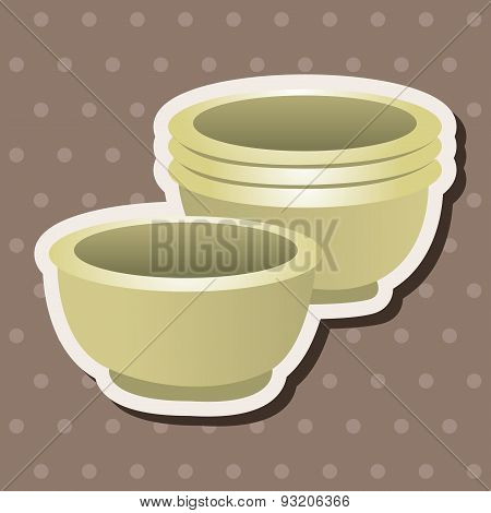 Barbecue Equipment Bowl Theme Elements