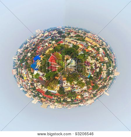 Panorama Shot Of Chiang Mai (the Old City),thailand  For Back Ground Usage.