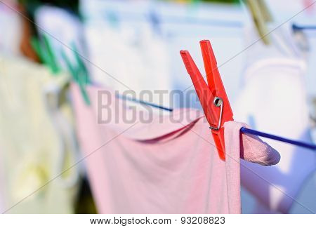 Laundry With Red Peg