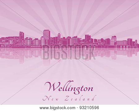 Wellington Skyline In Purple Radiant Orchid