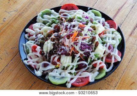 Mixing Fruit Salads