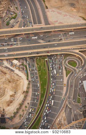 downtown city, cityscape of Dubai, United Arab Emirates, modern futuristic architecture daytime,  luxury traveling concept