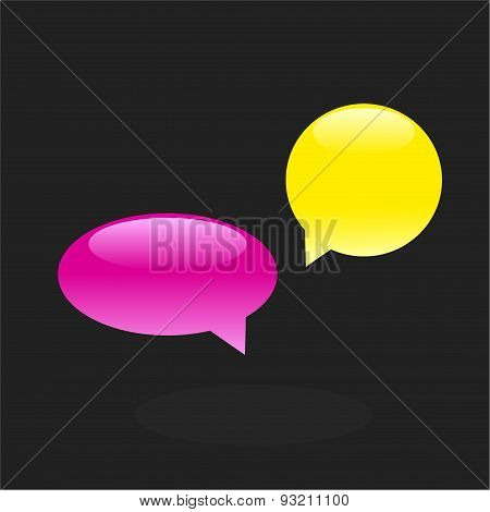 Set of chat icons, speech bubbles