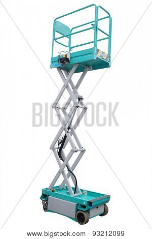 lifting machine under the white background