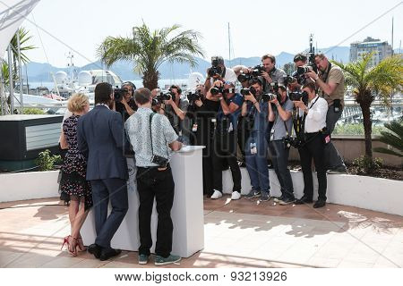 Gus Van Sant, Matthew McConaughey, Naomi Watts attend the The Sea of Trees photocall during the 68th annual Cannes Film Festival on May 16, 2015 in Cannes, France.