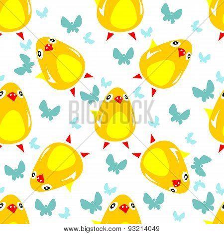 chicken seamless pattern