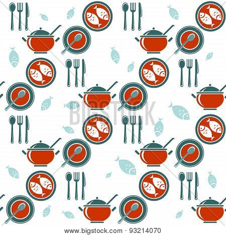 dinner seamless pattern