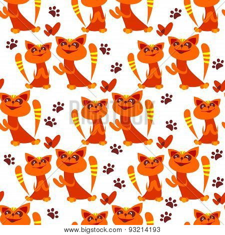 two cats seamless pattern