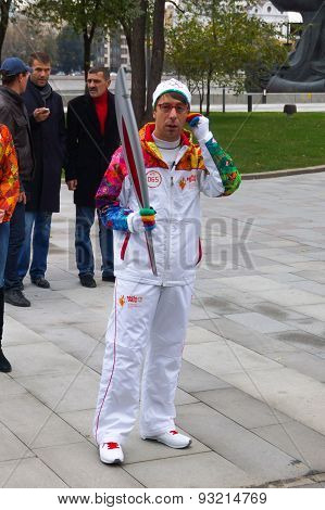 2014 Winter torch relay, Dmitriy Zelensky, Moscow
