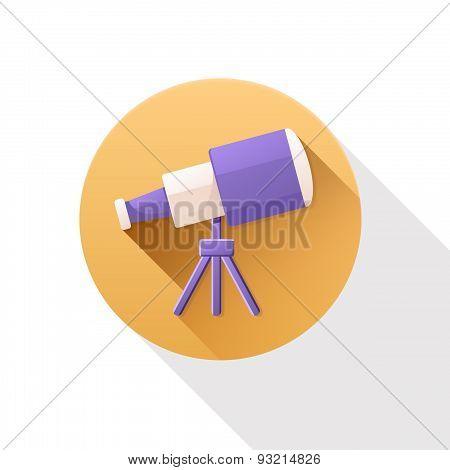Telescope Flat Icon.