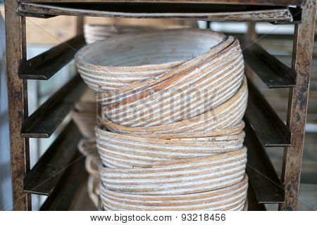 Stacked Chinese Rattan Bowls