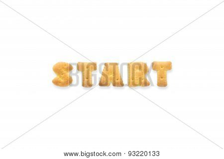 The Letter Word Start. Alphabet  Cookie Biscuits