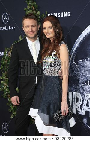 LOS ANGELES - JUN 9:  Chris Hardwick, Lydia Hearst at the