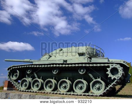 Military Tank - Side View