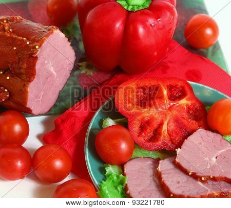 Meat And Vegetables Still Life