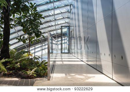 LONDON, UK - APRIL 22, 2015: Interior of Walkie-Talkie hall, top floor