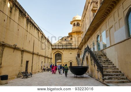 Jaipur, India - December 29, 2014: Tourist Visit Amber Fort Near Jaipur.