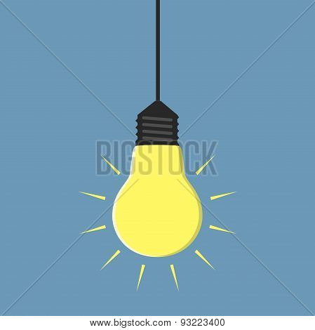 Glowing Light Bulb Hanging