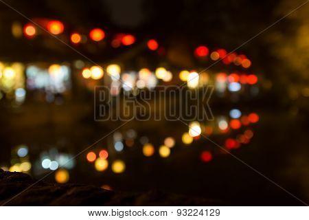 blur focus night life