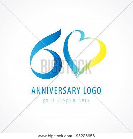 60 anniversary logo love