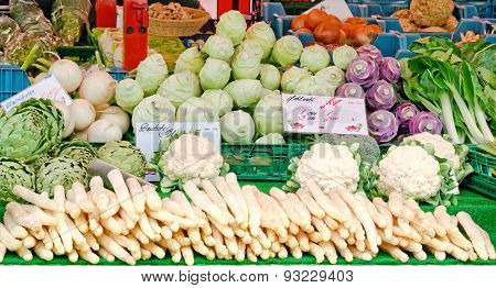 Stall With Fresh Vegetables