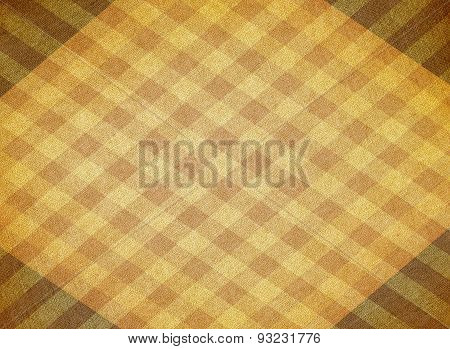 Yellow Chequered Canvas Background