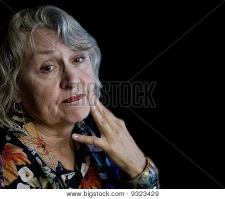 Older Woman With Worried Look
