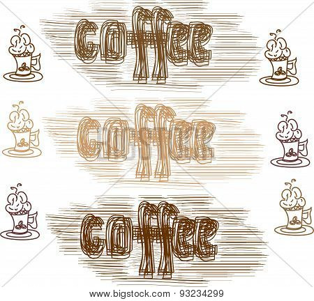 vector set of coffee