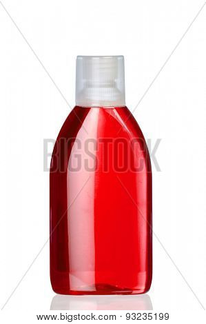 Boat mouthwash red isolated on white background