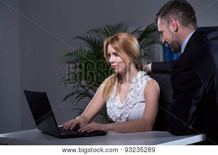 Married Boss With Secretary