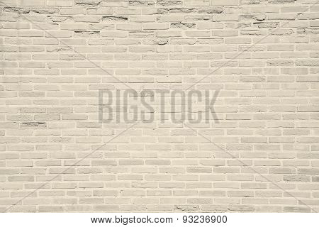 Light Beige Grunge Brick Wall Texture Background