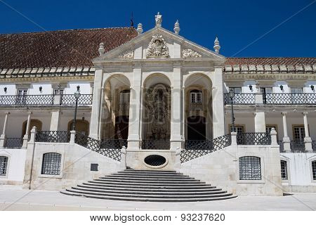 Entrance to the Coimbra University, Portugal