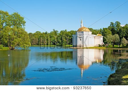 Tsarskoye Selo (Pushkin), Saint-Petersburg, Russia. The Turkish Bath Pavilion