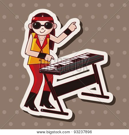 Band Member Keyboard Player Theme Elements