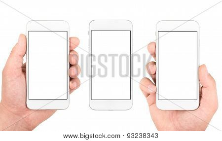 Set of isolated gadgets and hands
