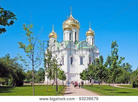 Tsarskoye Selo (Pushkin), Saint-Petersburg, Russia. Church of St. Catherine martyr
