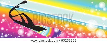 Snowboarding Rainbow