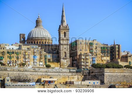 Close View Of Valletta From Sea