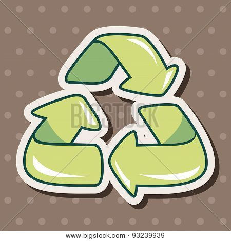 Environmental Protection Concept Theme Elements, Doing Recycle To Protect Our Environment; Recycled