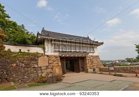 Akazunomon Gate Of Okayama Castle, Japan. National Historic Site