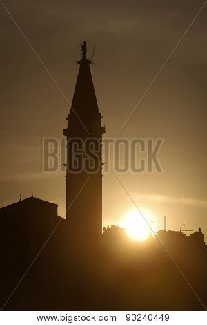 Saint Euphemia Bell Tower At Sunset