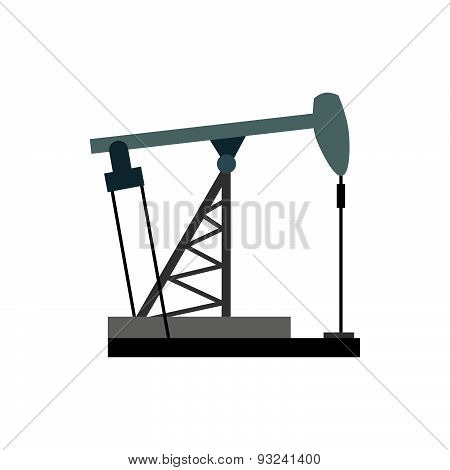 Oil rig. Oil pumps illustration vector. Equipment for the oil industry.